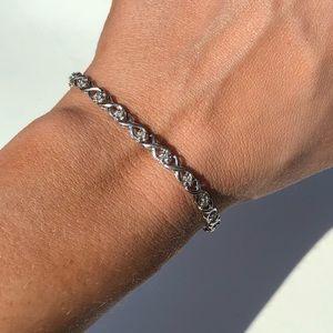 10K stamped diamond tennis bracelet